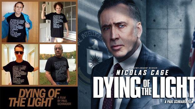 """Po lewej - protestacyjny plakat """"Dying Of The Light"""", po prawej - wersja oficjalna. /materiały dystrybutora"""