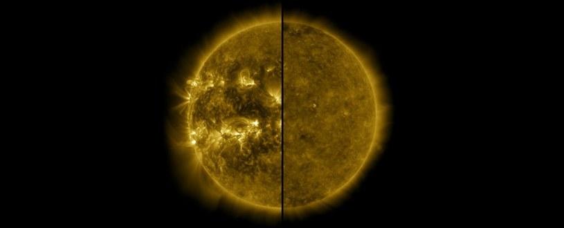 Po lewej: Słońce w kwietniu 2014 r., po prawej: w grudniu 2019 r. /NASA
