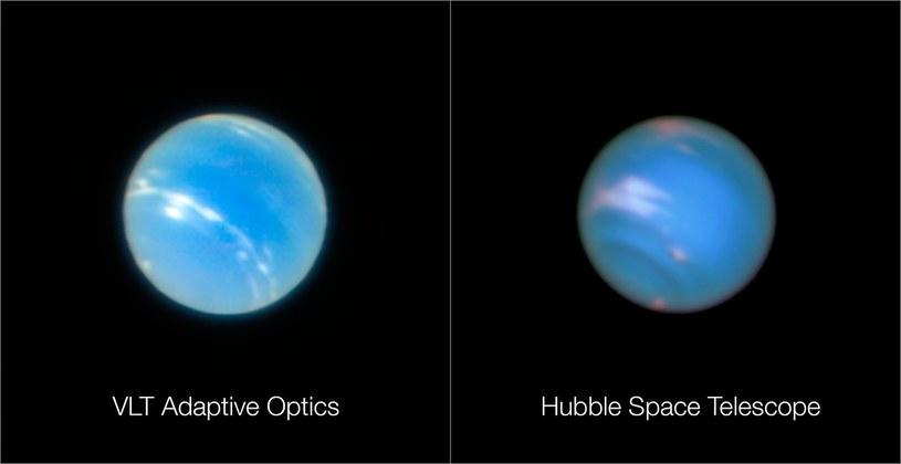 Po lewej zdjęcie wykonane z wykorzystaniem nowej techniki, po prawej standardowy obraz uchwycony przez Hubble'a /materiały prasowe