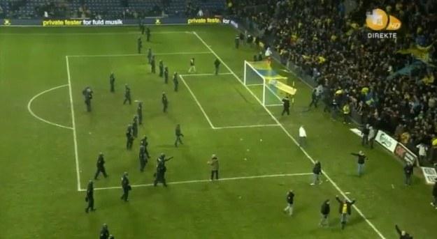 Po meczu w Kopenhadze doszło do zamieszek /Internet