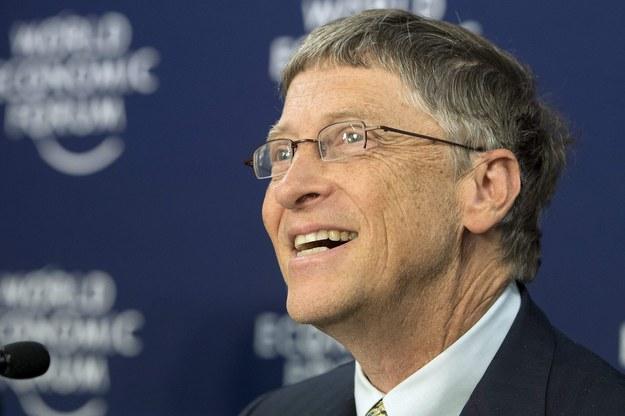 Po pięcioletniej przerwie na szyczyt wrócił Bill Gates /JEAN-CHRISTOPHE BOTT /PAP/EPA