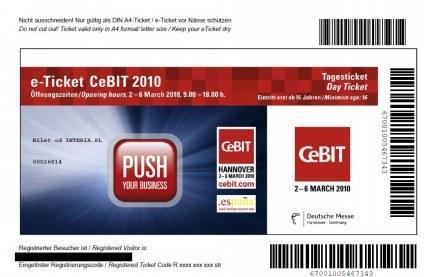 Po rejestracji wysłany zostanie plik PDF z biletem - w miejscu czarnego paska znajdzie się nazwisko /INTERIA.PL