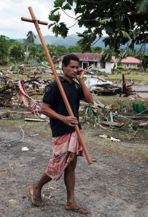 Po tsunami na Samoa /AFP