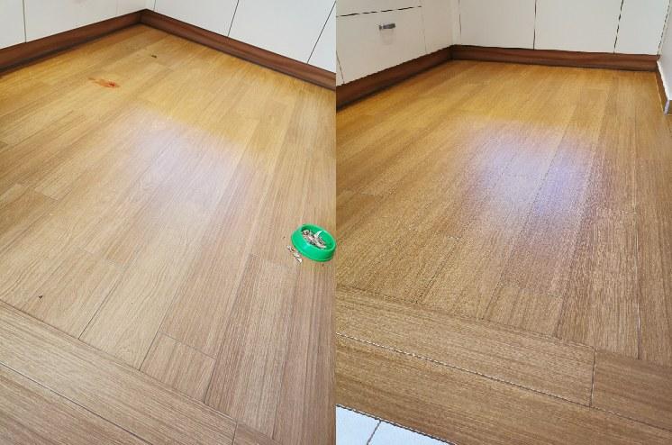 Po użyciu odkurzacza myjącego Vileda JetClean podłogi są czyste i lśniące /INTERIA.PL