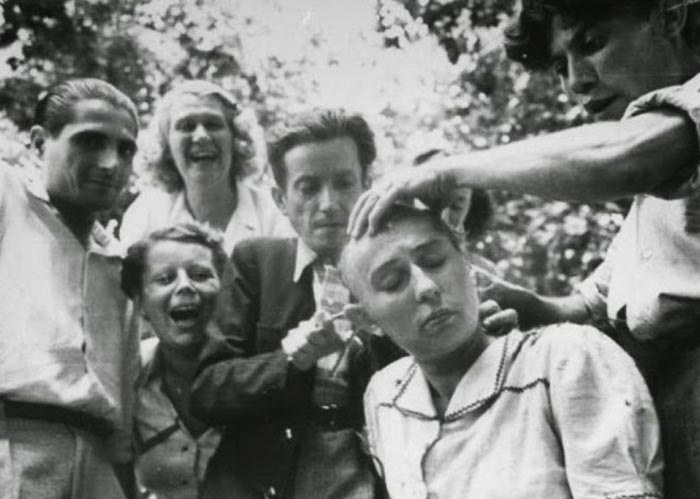 Po wojnie kolaboranci byli bardzo brutalnie rozliczani za współpracę z wrogiem /Wikimedia Commons – repozytorium wolnych zasobów /INTERIA.PL/materiały prasowe