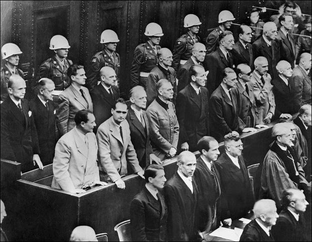 Po wojnie w Norymberdze odbył się proces nazistowskich zbrodniarzy /AFP