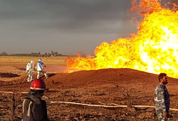 Po wybuchu doszło do pożaru /SYRIAN ARAB NEWS AGENCY /PAP/EPA