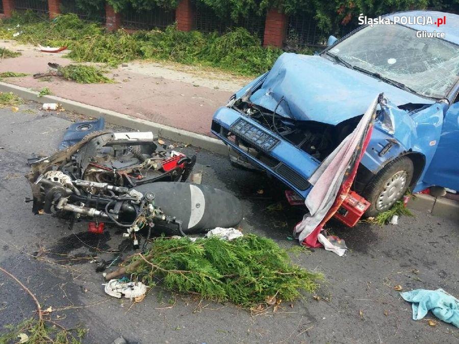 Po wypadku kierowca miał w organizmie 2 promile alkoholu /Policja