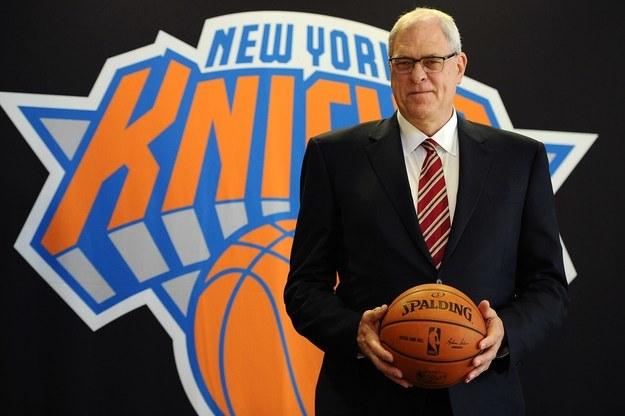 Po zakończeniu kariery trenerskiej Phil Jackson został prezydentem New York Knicks /AFP