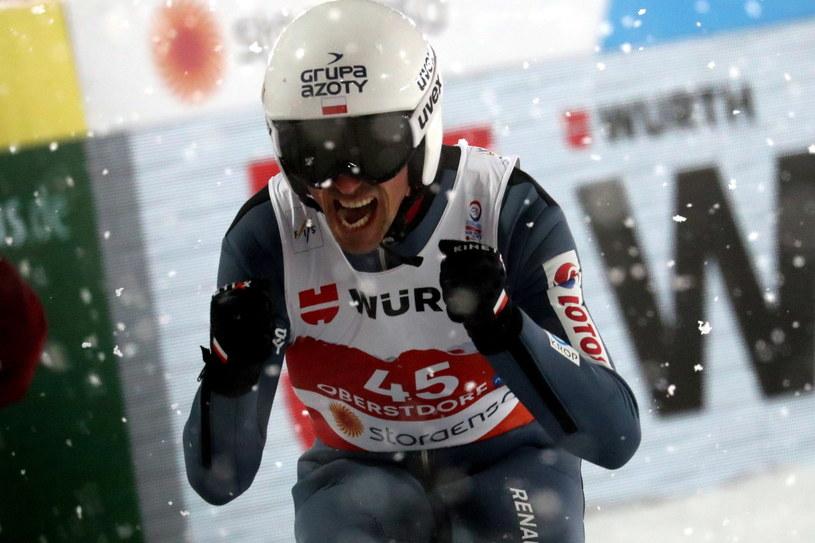 Po znakomitym skoku Piotr Żyła był pewny, że sięgnie po medal /Grzegorz Momot /PAP