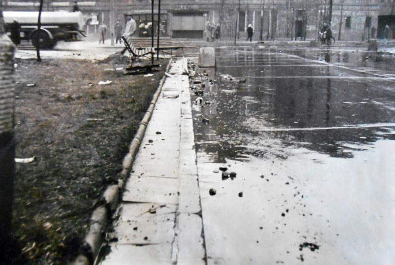 Pobojowisko po zajściach w Nowej Hucie. Fot. z archiwum IPN /Archiwum autora
