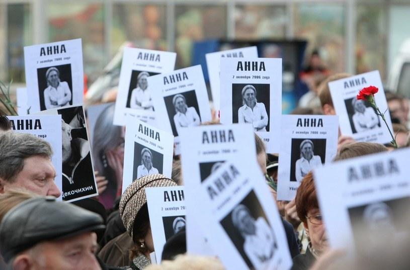 Pochód ku pamięci Politkowskiej, zdj. archiwalne /Mikhail Fomichev /East News