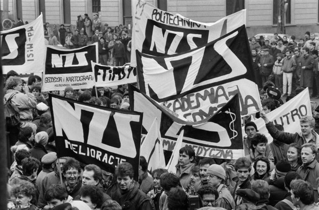 Pochód studentów Uniwersytetu Warszawskiego zorganizowany przez Niezależne Zrzeszenie Studentów /Jacek Barcz /AFP