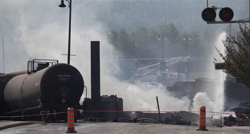 Pociąg eksplodował w mieście Lac-Megantic /AFP