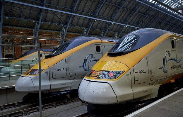 Pociąg Eurostar na dworcu St Pancras w Londynie. Fot. Niklas Hallen /AFP