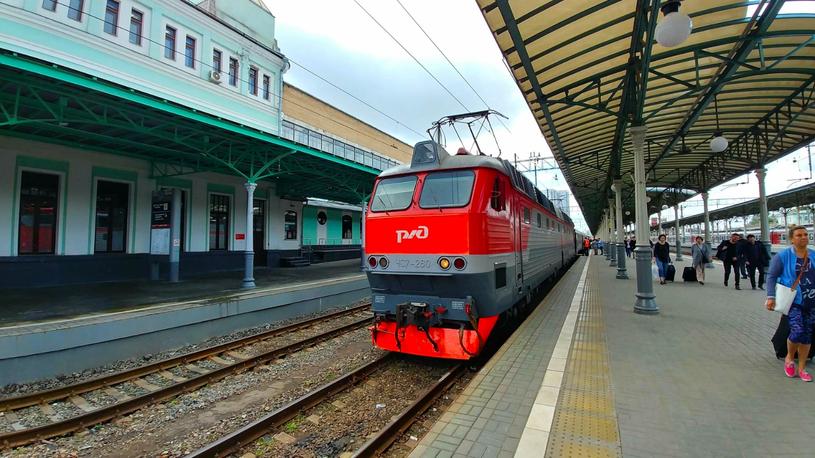 """Pociąg """"Polonez"""", który jedzie z Warszawy do Moskwy /Rafał Walerowski /INTERIA.PL"""