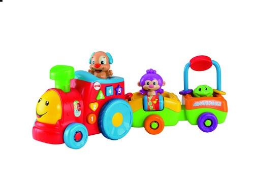"""Pociąg szczeniaczka - nowa zabawka z linii """"Ucz się i Śmiej"""" od Fisher-Price /materiały prasowe"""