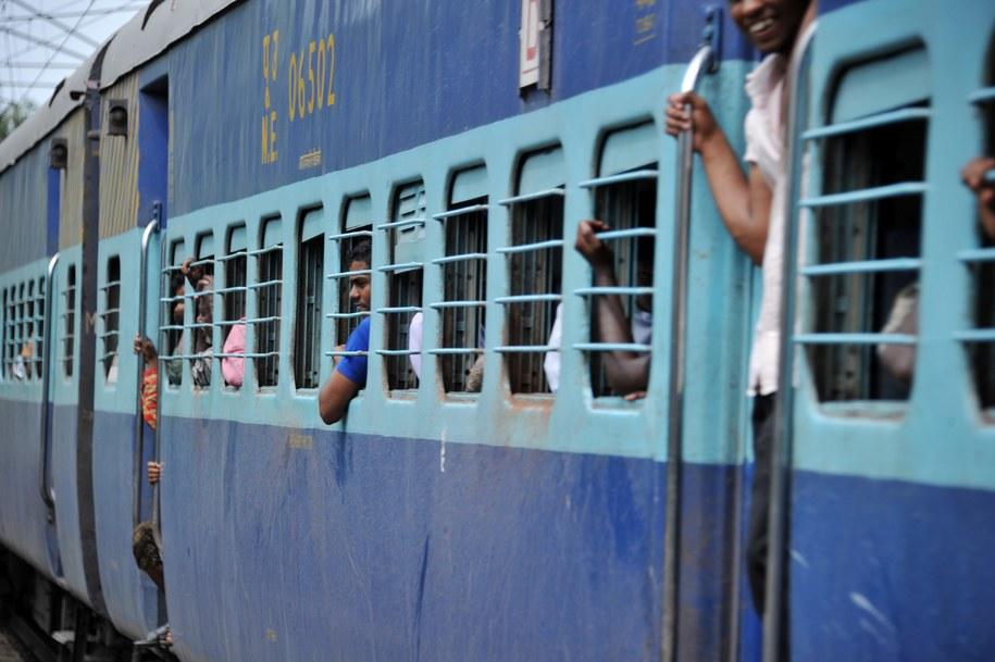 Pociąg w Indiach /Frank May    /PAP/EPA