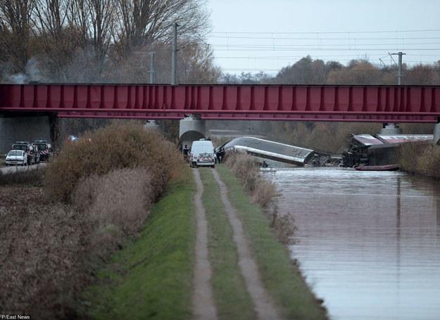 Pociąg wykoleił się podczas jazdy testowej na nowej trasie, /AFP /East News