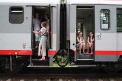 Pociąg zatrzymany w Piasku