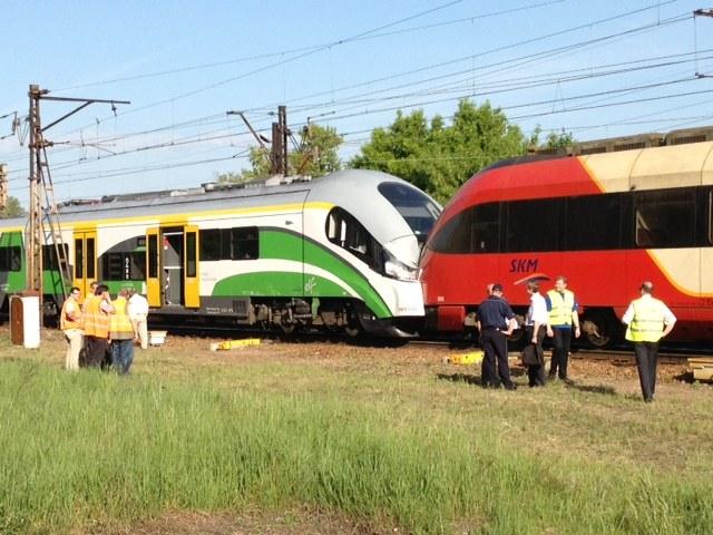 Pociągi zderzyły się na stacji Warszawa Zoo  /Mariusz Piekarski /RMF FM