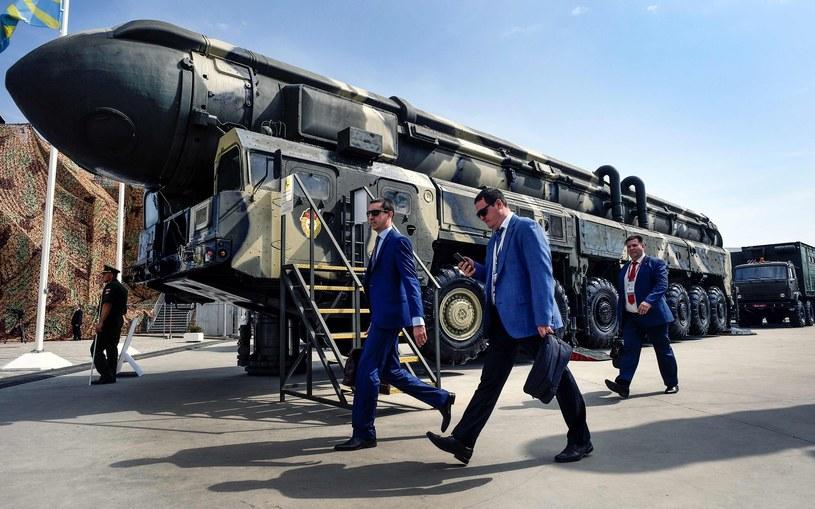 Pocisk ICBM na wystawie sprzętu wojskowego w Moskwie, zdjęcie ilustracyjne /AFP