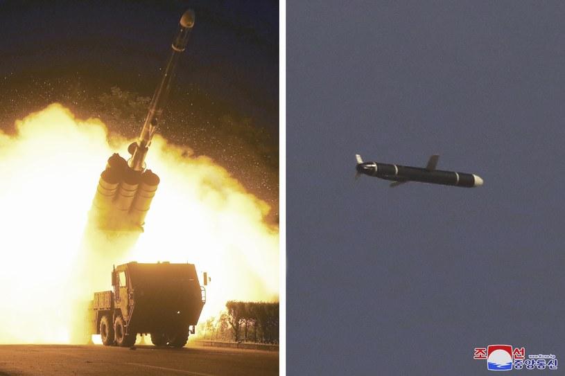 Pociski wystrzelone przez Koreę Północną /KCNA via KNS/Associated Press/East News /East News