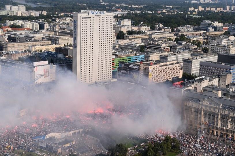 Początek marszu narodowców /Marcin Kmieciński /PAP