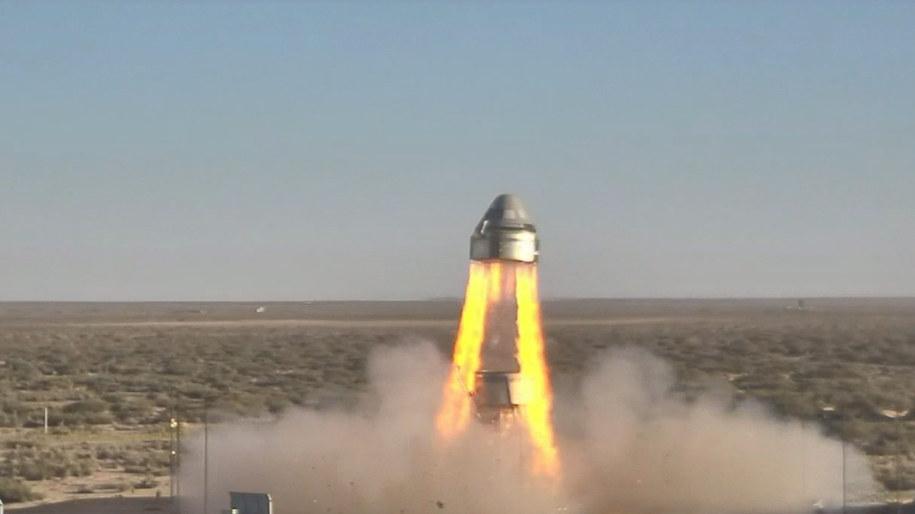 Początek testu Starlinera /NASA /Materiały prasowe
