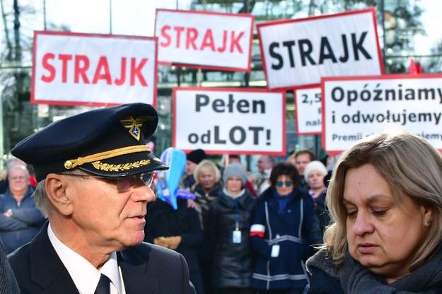 Początkowo postulatem strajkujących było przywrócenie do pracy przewodniczącej ZZPPiL Moniki Żelazik (po prawej stronie) /Piotr Bułakowski, RMF FM