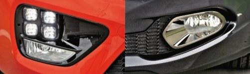 Poczwórne diody to najbardziej charakterystyczny element Cee'da GT. Po prawej: światła przeciwmgielne Cee'da. /Motor