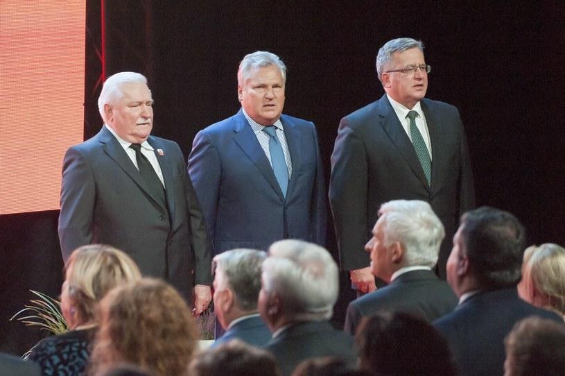 Pod apelem podpisali się m.in. Lech Wałęsa, Aleksander Kwaśniewski i Bronisław Komorowski /Wojciech Stóżyk /Reporter