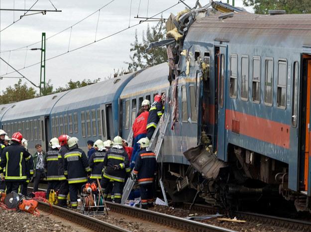Pod Budapesztem zderzyły się dwa pociągi (zdjęcie ilustracyjne) fot. Móricz István /AFP