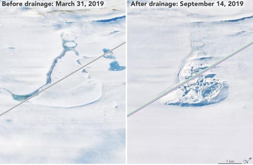 Pod lodowcem szelfowym Amery'ego skrywają się jeziora /materiały prasowe