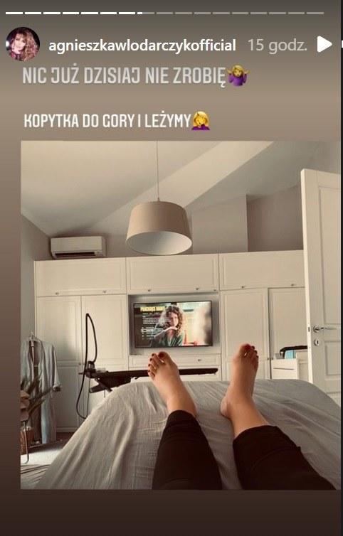 Pod pływem ciąży kostki Agnieszki Włodarczyk bardzo spuchły fot. https://www.instagram.com/agnieszkawlodarczykofficial/?hl=pl /Instagram