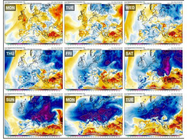 Pod wpływem mroźnej pogody będzie praktycznie cała Europa z Hiszpanią włącznie /materiały prasowe