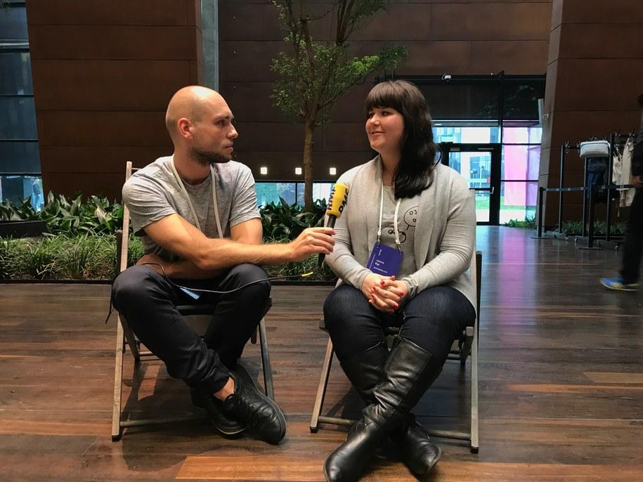 Podczas Blog Forum Gdańsk z Janiną Bąk rozmawiał Kuba Kaługa /RMF FM
