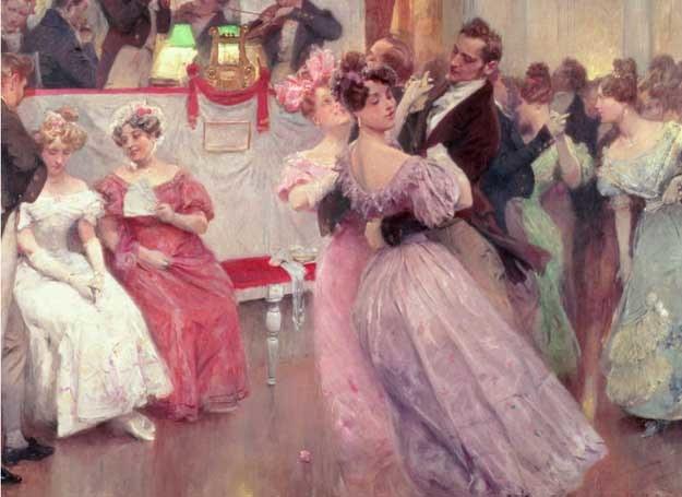 Podczas gdy jedne panny były rozchwytywane, inne podpierały ściany, fot. Blog historyczno-obyczajowy /INTERIA.PL