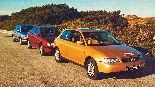 Podczas jazd testowych w Danii koncern VW Audi postawił do dyspozycji aż 3 nowe modele napędzane praktycznie tym samym silnikiem 1,9 TDI. Jednostkę tę znajdziemy również w VW Golfie, Vento, Sharan, Seacie Toledo i Alhambrze, Audi A4 oraz A6. W Passacie i A4 dzięki bardziej skomplikowanej sprężarce i kilku innym zabiegom moc silnika zwiększono o 20 KM. Na ilustracji Audi A3, Skoda Octavia i VW Passat. /Motor