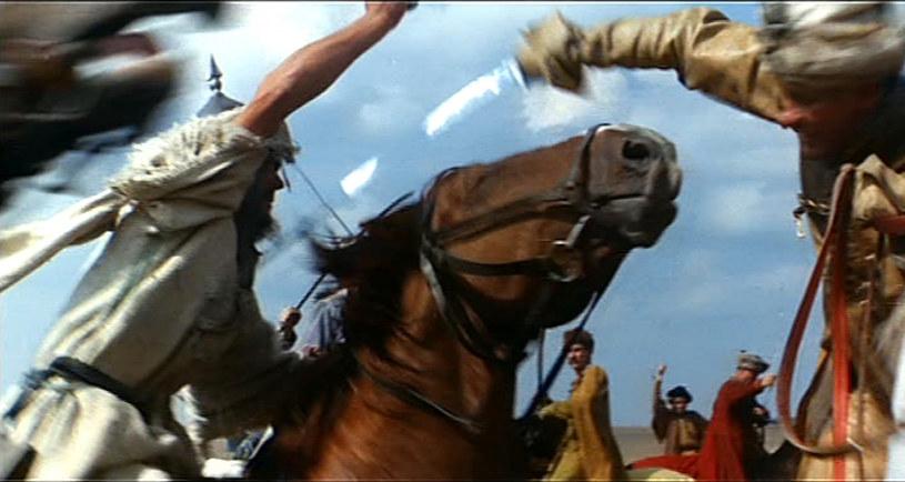 Podczas kręcenia zdjęć była jedna śmiertelna ofiara: ulubiony koń Łomnickiego, który padł na serce /INPLUS