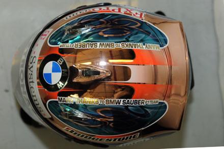 Podczas kwalifikacji Kubica jechał w nowym kasku z specjalnym napisem... /