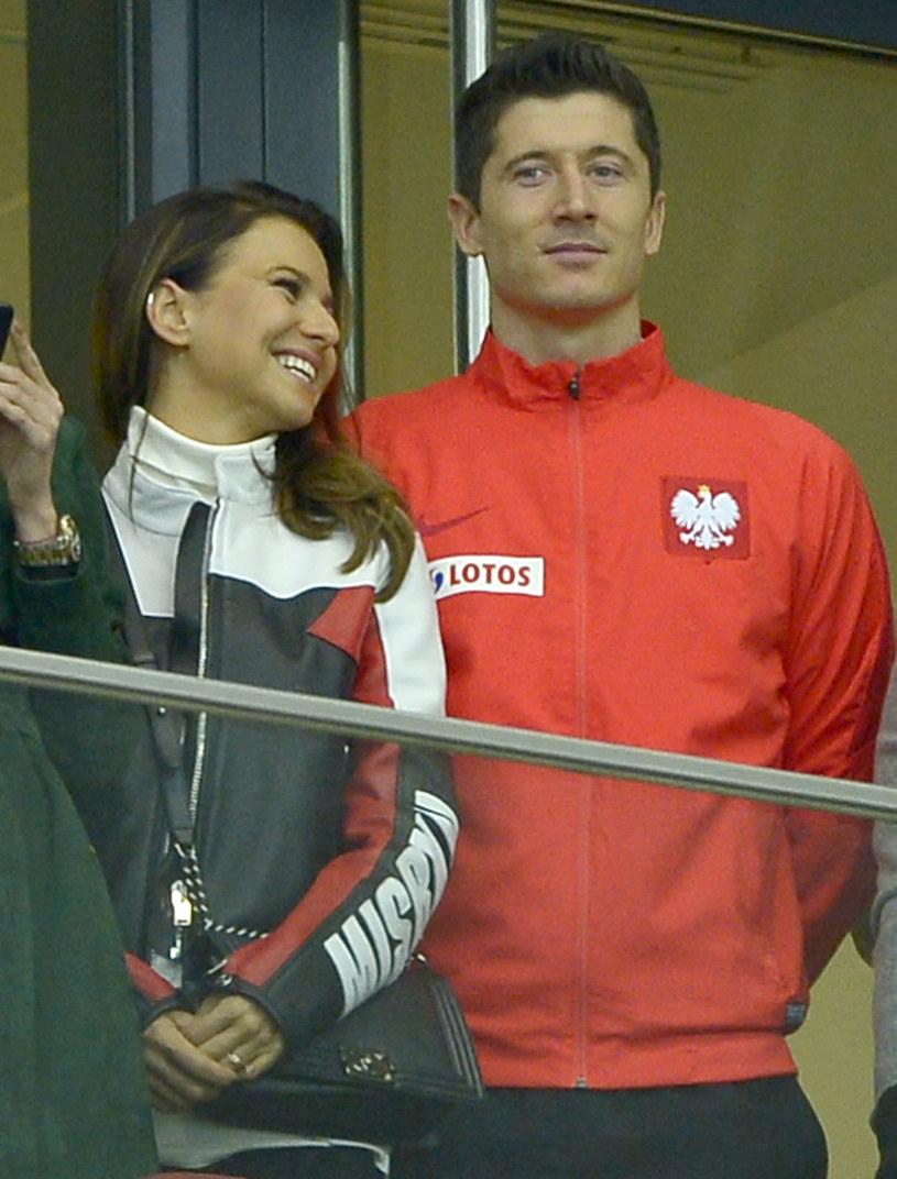 Podczas meczu Polska-Urugwaj Ania bardzo starała się wspierać Roberta /Piętka Mieszko /MWMedia