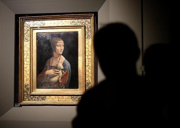 """Podczas Nocy Muzeów będzie można zobaczyć """"Damę z gronostajem"""" /fot. Jacek Bednarczyk /PAP"""