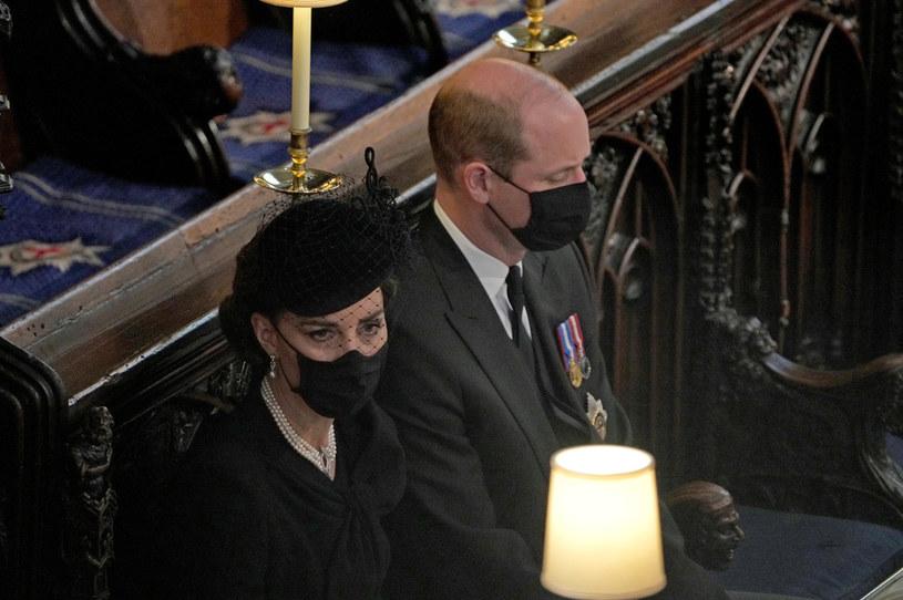 Podczas pogrzebu księżna Kate starała się wspierać wszystkich członków rodziny królewskiej /WPA Pool /Getty Images