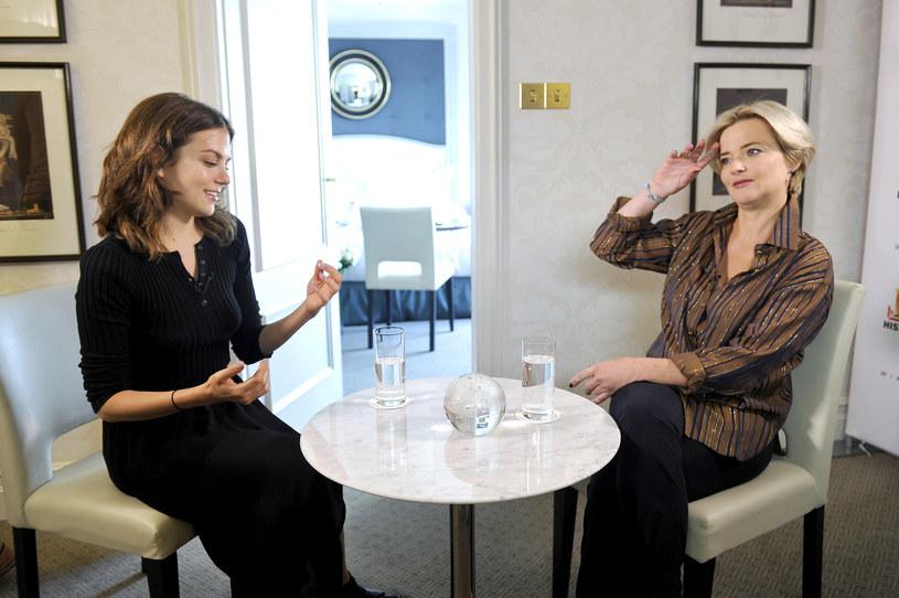 """Podczas promowania """"Wikingów"""" w Polsce aktorka udzieliła kilku wywiadów, rozmawiała m.in. z Moniką Zamachowską /Mieszko Pietka /AKPA"""