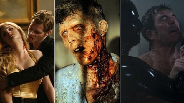 Podczas seansu nie polecamy jedzenia posiłków. Charakteryzacja zombie powala na kolana. /FX/Lewis-Jacobs, CW Network Quantrell D.Colbert /materiały prasowe