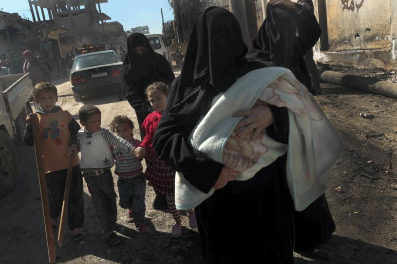 Podczas ucieczki z Sermin /AFP
