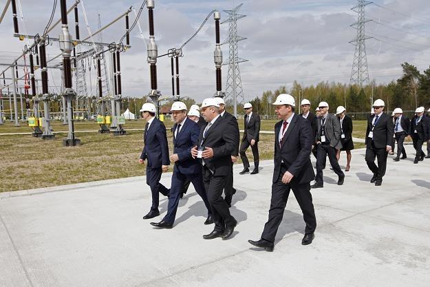 Podczas uruchomienia stacji elektroenergetycznej 400 kV Łomża /PAP