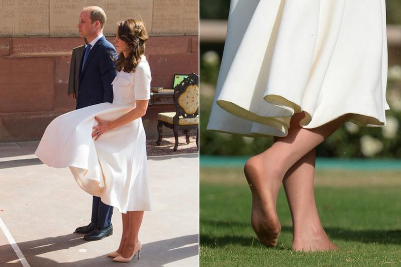 Podczas wizyty w Indiach w 2016 r. wiatr rozwiewał jej sukienkę, potem księżna pokazała swoje zaniedbane stopy… Ale i tak wszyscy kochają żonę księcia! /Getty Images