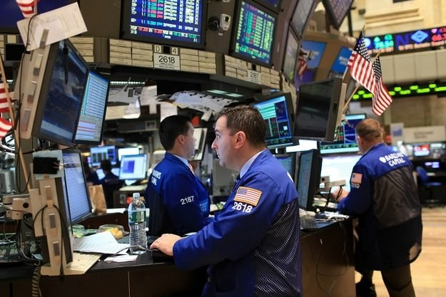 Podczas wtorkowej sesji na nowojorskich giełdach utrzymywały się spadki /AFP
